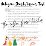 Antigone Short Answer Test