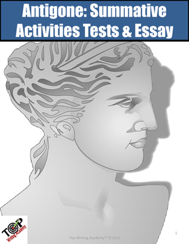 antigone summative tests essay writing task tpt antigone summative tests essay writing task