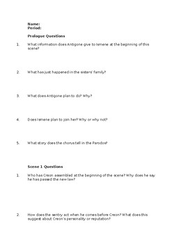Antigone by sophocles study guide