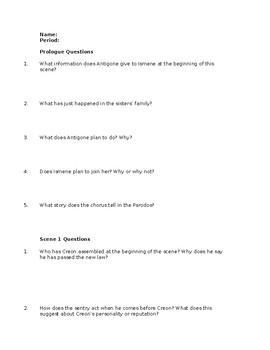 Antigone study guide answers
