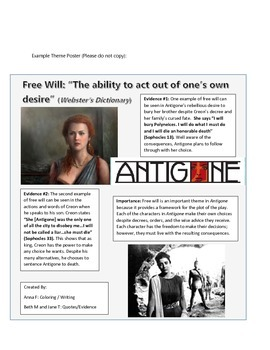 Antigone Theme Poster Project