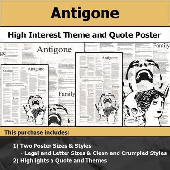 Antigone - Visual Theme and Quote Poster for Bulletin Boards