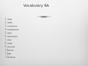 Antigone Vocabulary 8A