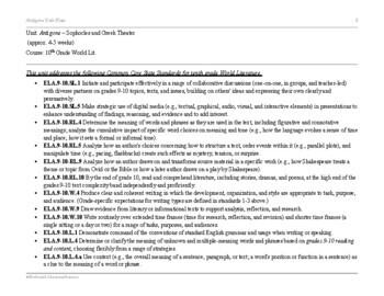 Antigone by Sophocles: Comprehensive Unit Plan