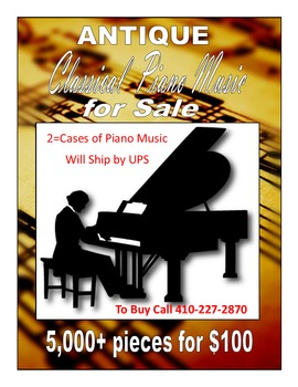 FREE - Antique Classical Piano Music    5,000+ Pieces  FREE