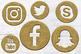 Antique Gold Social Icons Set