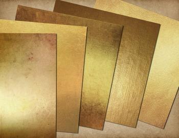 Antique Gold Textures Digital Paper, gold foil leaf scrapbooking backgrounds