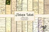 Antique Letters Digital Paper