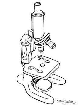 Antique Microscope Coloring ( 3 Variations )