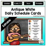 Antique White Daily Schedule Cards {EDITABLE}
