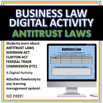 Antitrust Law Digital Activity