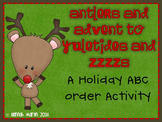 Antlers and Advent to Yuletides and Zzzs! {A Holiday ABC Order}
