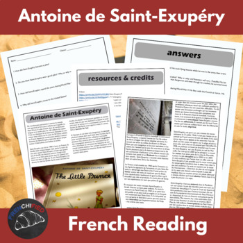 Antoine de Saint-Exupéry - reading for int/adv French learners