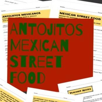 Sub Plan / Homework - Antojitos Mexicanos