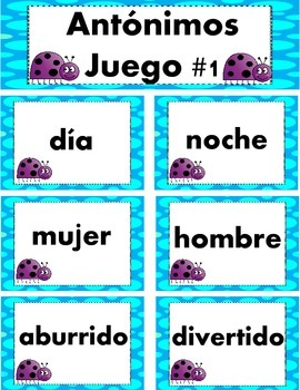 Antonimos/Antonyms Spanish