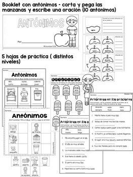Antónimos by Educaclipart | Teachers Pay Teachers