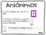 Antónimos - Antonyms in Spanish