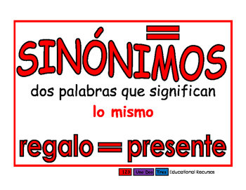 Antonimos/Sinonimos rojo