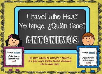 Word Study in Spanish - Antonimos