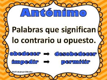 Antonimos y Sinonimos