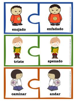 Antónimos y Sinónimos Puzzles Spanish