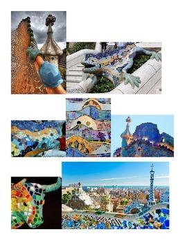Antonio Gaudi Mosaic Cultural Art Activity