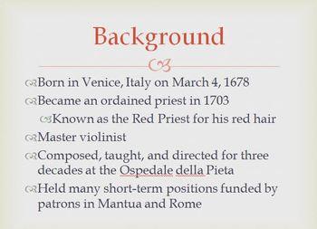 Antonio Vivaldi - Composer Mini Lesson