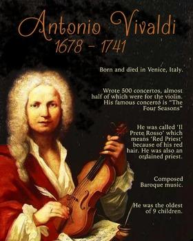 Antonio Vivaldi printable poster