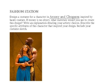 Antony & Cleopatra: Stations/Centers With Various Activities