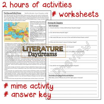 Antony and Cleopatra introduction activity