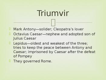 Antony and Cleopatra Introduction