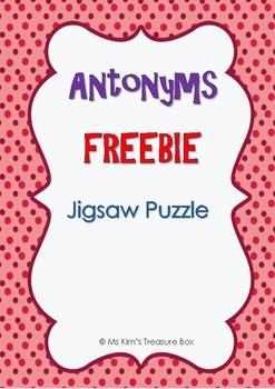 Antonym Activities Jigsaw Puzzle FREEBIE