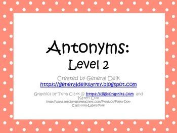 Antonym Activities Level 2