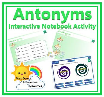Interactive Antonyms Activity for IWB
