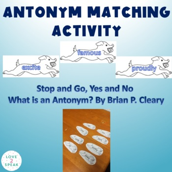 Antonym Activity - Can be Used W/ Stop & Go, Yes & No - What is an Antonym?
