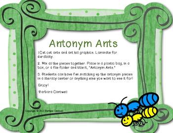 Antonym Ants Matching Game