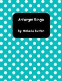 Antonym Bingo-A Great Literacy Center and Fast Finisher