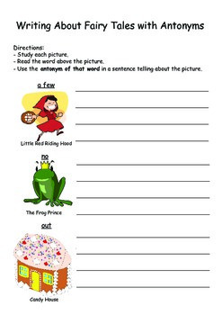Antonym Cards and Practice Sheets