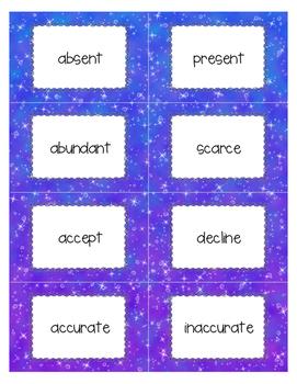 Antonym Cards for 3rd-5th Grades