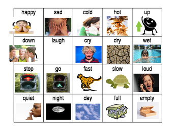 Antonym Center Cards