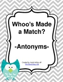 Antonym Center Owl Themed