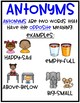Antonym Centers and No Prep Worksheets
