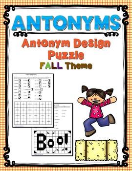Antonym Design Puzzle -  Fall Theme