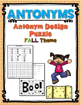 Antonym Design Puzzle -  Fall Theme