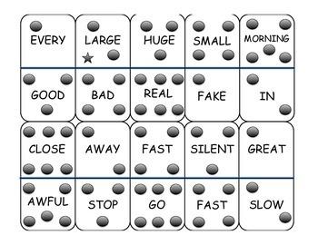 Antonym Dominoes Game - Basic Level