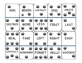 Antonym Dominoes Game - Intermediate Level