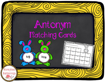 Antonym Easter Bunny Task Cards