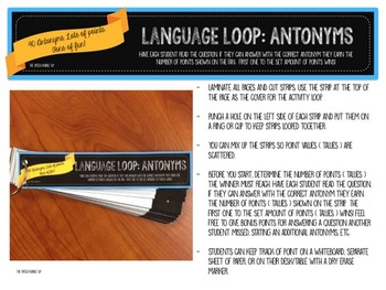 Language Loop: Antonyms