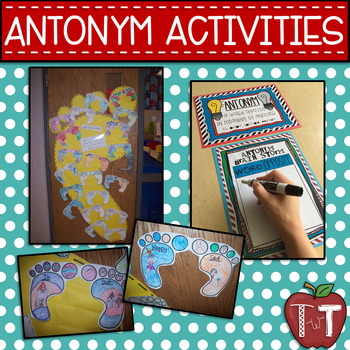 Feet, Feet, Feet - Antonym, Adjective, and Math Activities