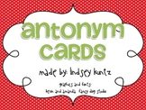 Antonym Flashcards (polka-dotted)